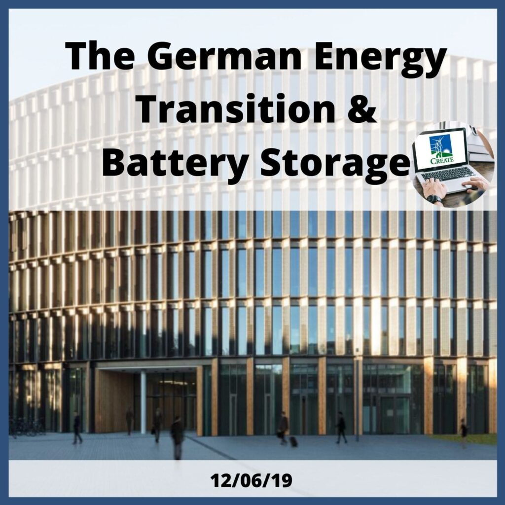 The German Energy Transition & Battery Storage