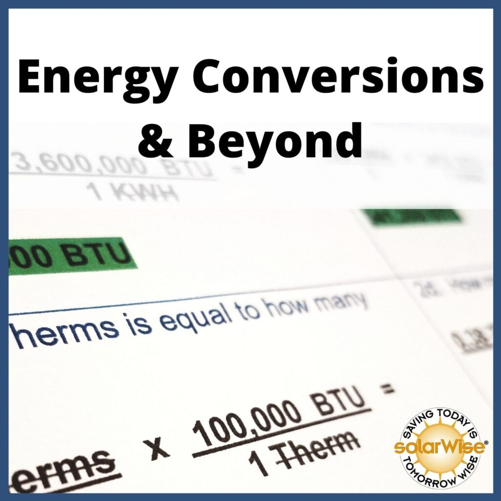 Renewable Energy Lesson Plan - Energy Conversions and Beyond