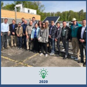 CREATE team members in front of solar panel - 2020