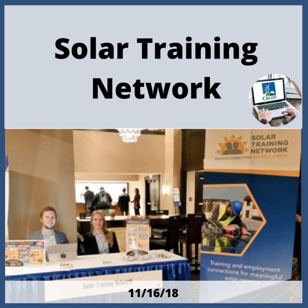 Solar Training Network - 11/16/18