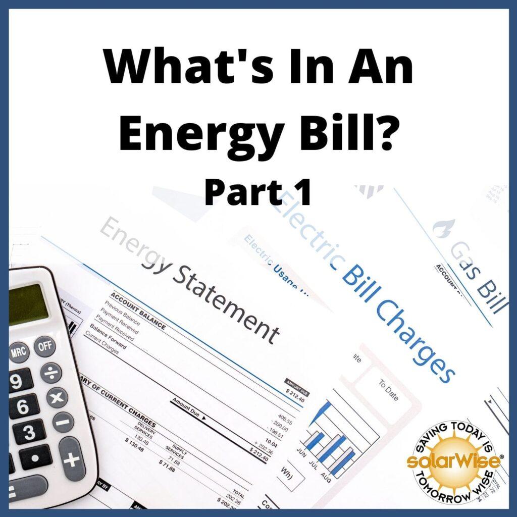 Renewable Energy Lesson Plan - What's In An Energy Bill? Part 1