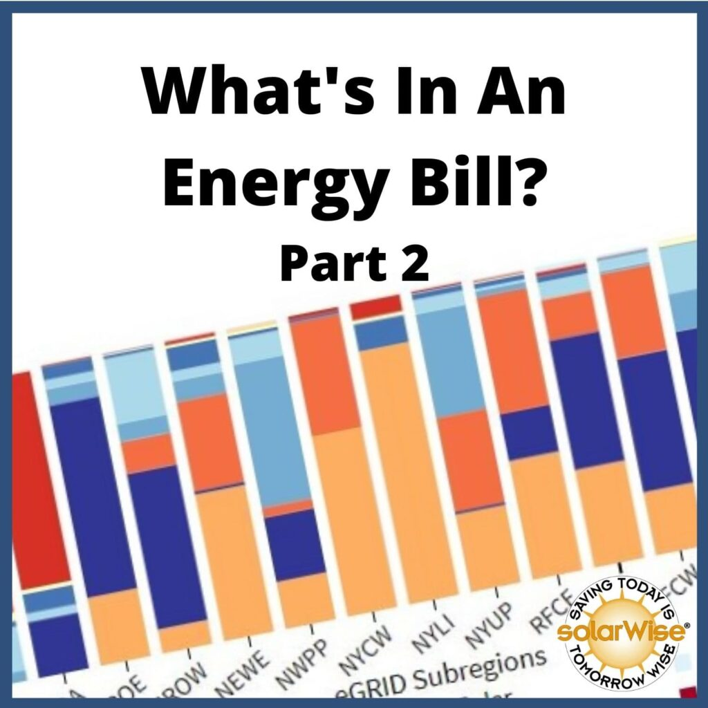 Renewable Energy Lesson Plan - What's In An Energy Bill? Part 2