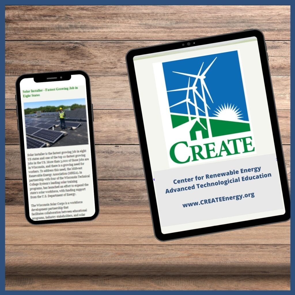 Phone and tablet with CREATE News displayed