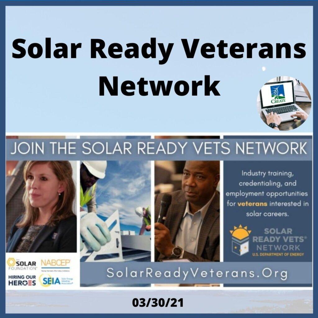 Solar Ready Veterans Network - 3/30/21