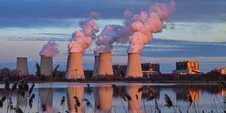 Coal factories producing smoke