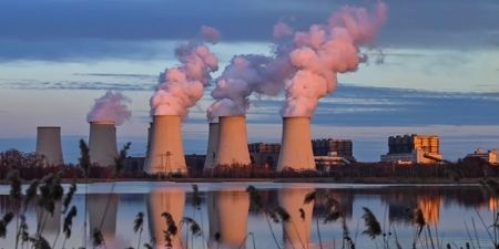 A lignite-fired power plant operated by Lausitz Energie Bergbau AG (LEAG) in Brandenburg, Germany.