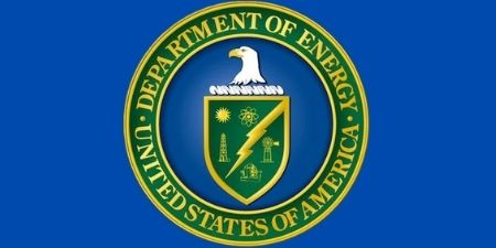 Department of Energy log with blue background