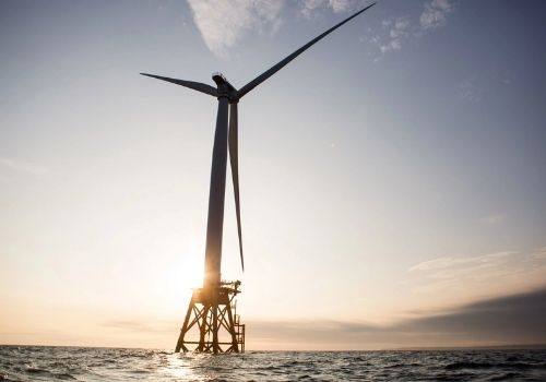 Wind turbine on the ocean