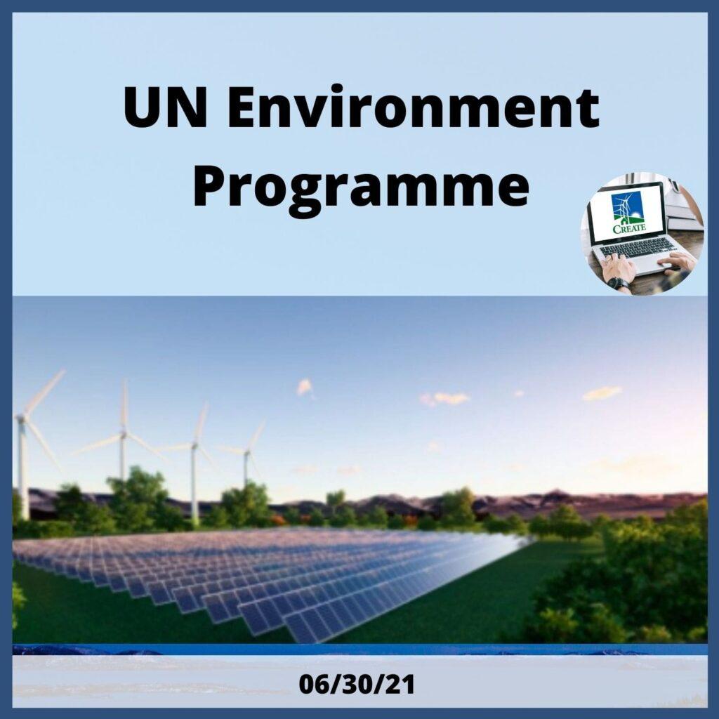 UN Environment Programme Webinar, 6/30/21