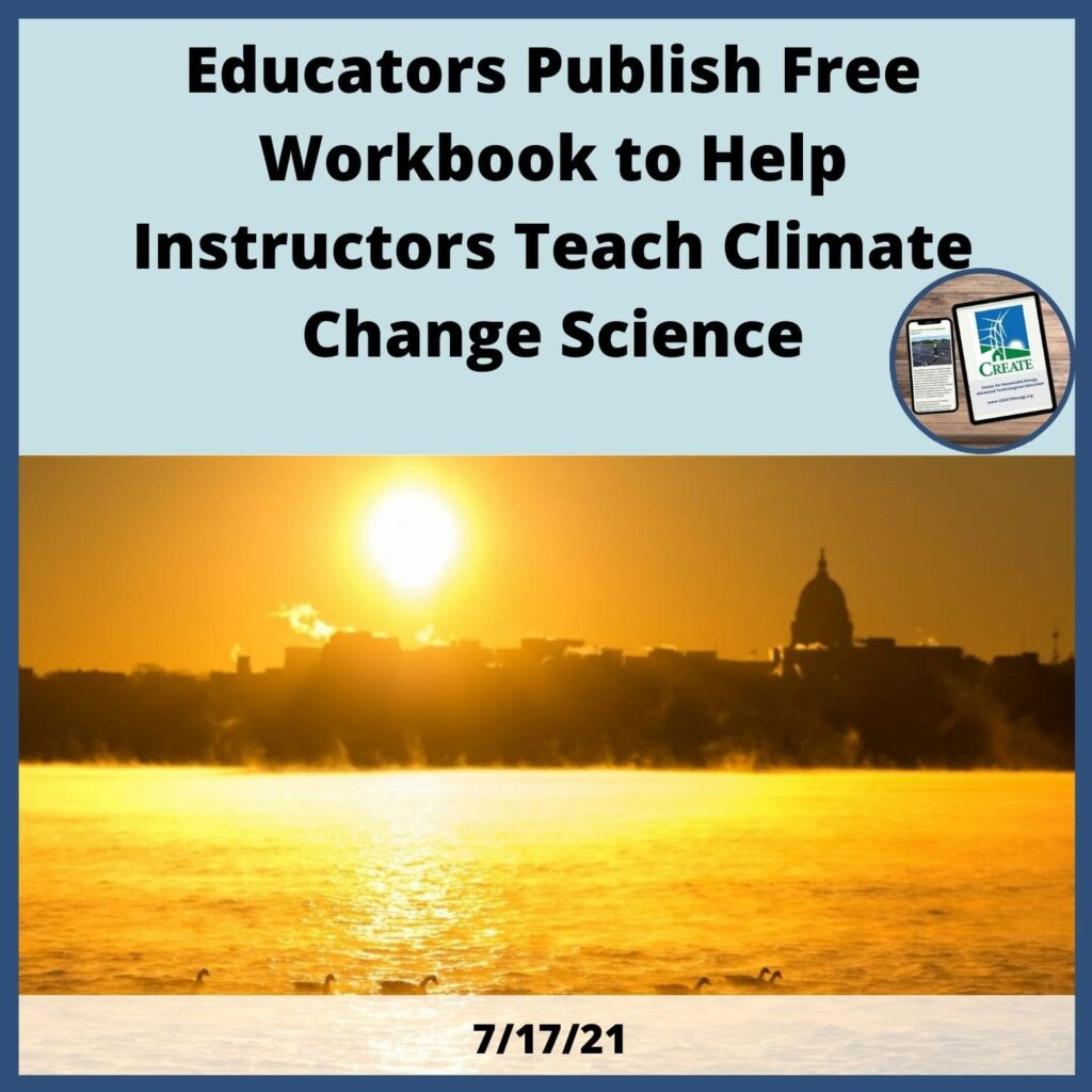 Educators publish free workbook to help instructors teach climate change science