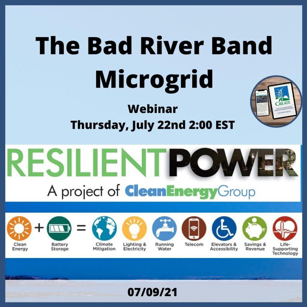 Bad River Band Microgrid Webinar