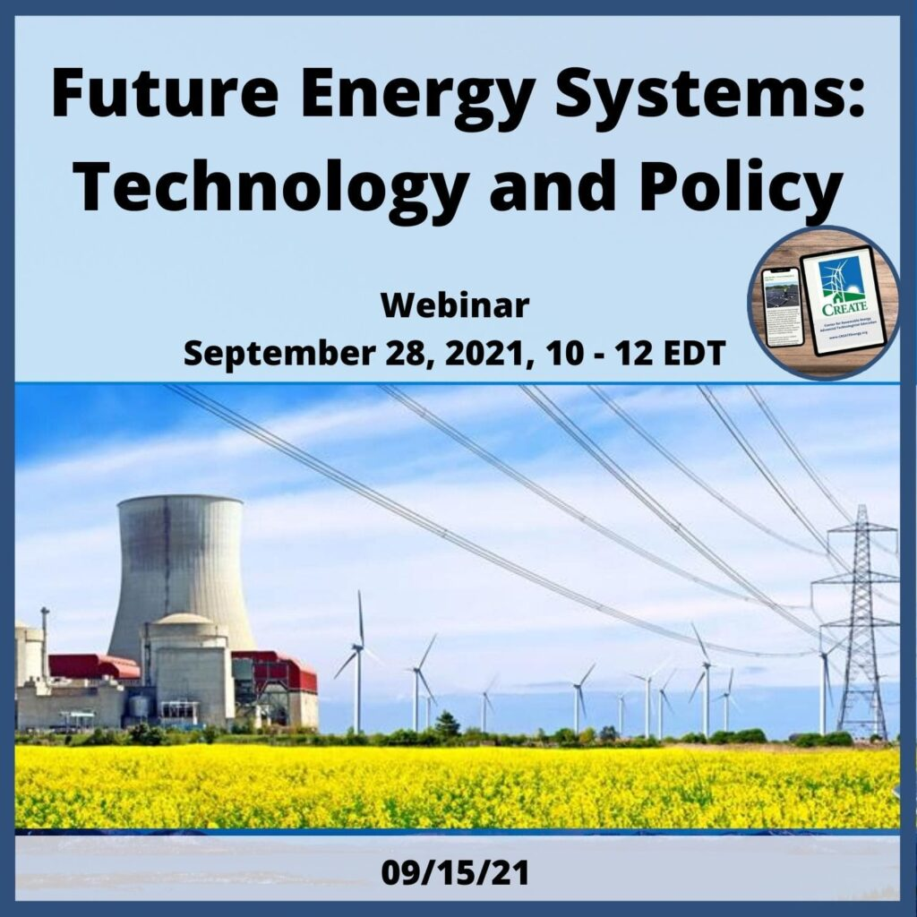 Future Energy Systems: Technology and Policy