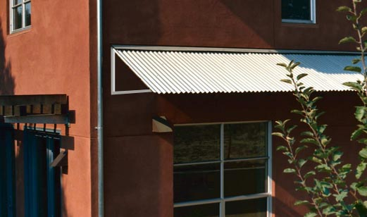 corrugated awning