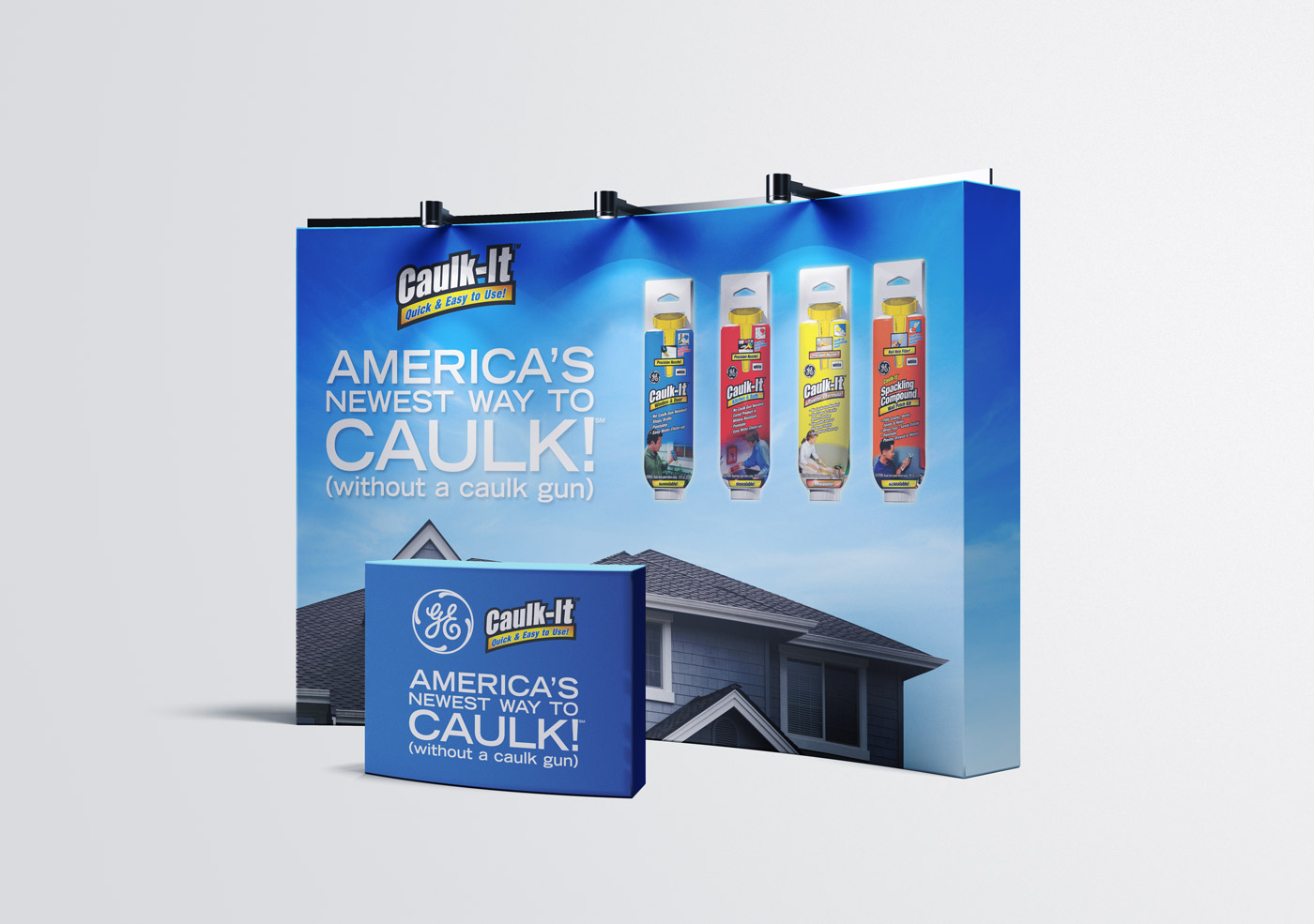 General Electric Caulk It Trade Show Display
