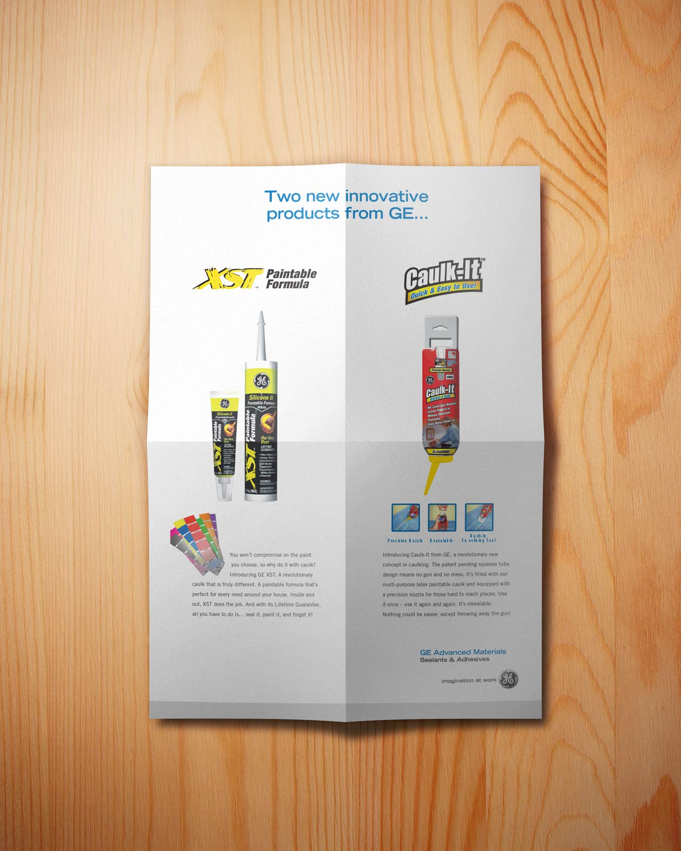 General Electric Caulk It Trade Show Poster