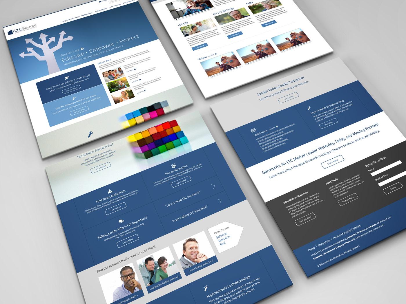 Genworth LTC Source Website Design