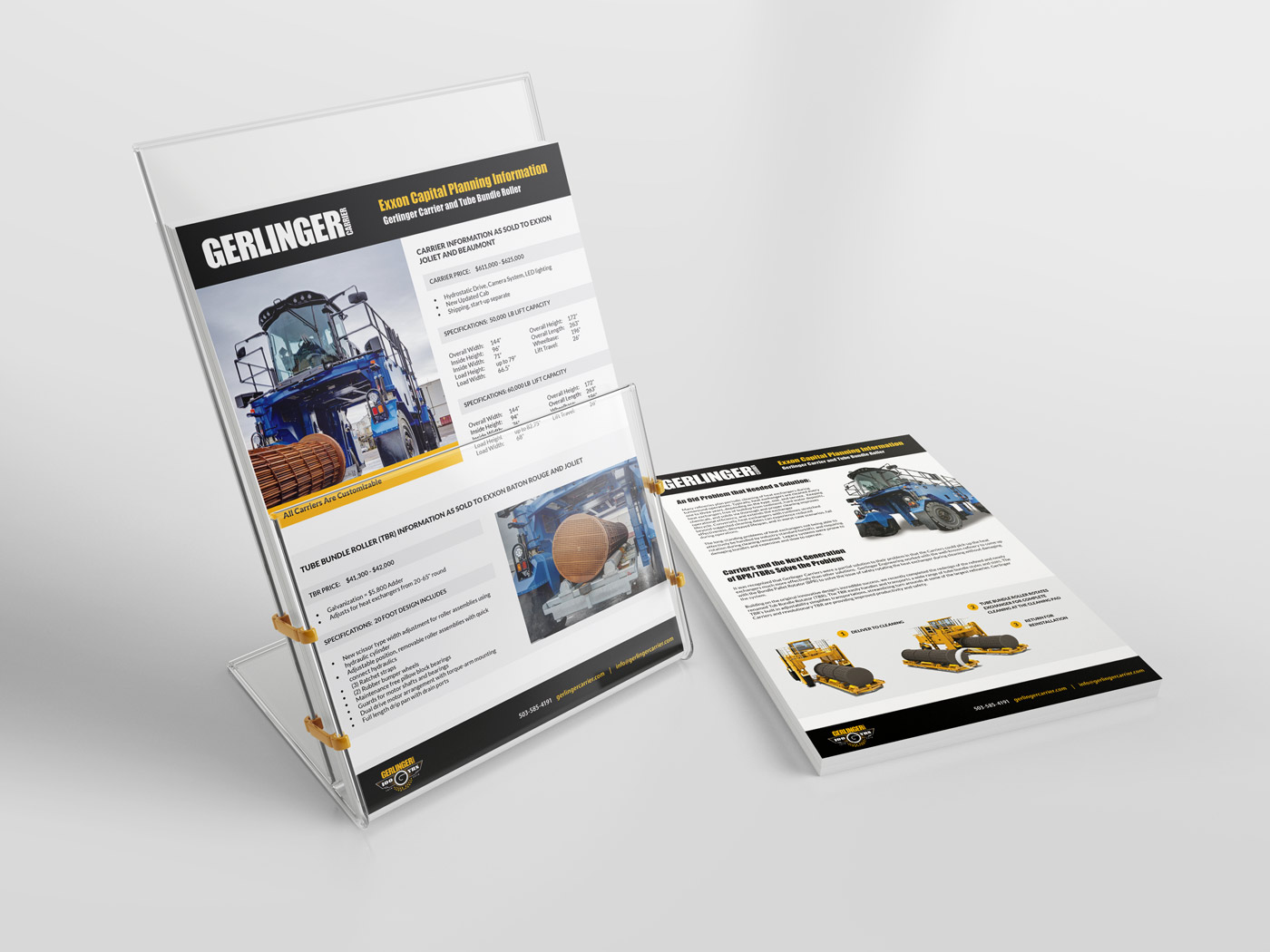 Gerlinger Carrier Print Collateral