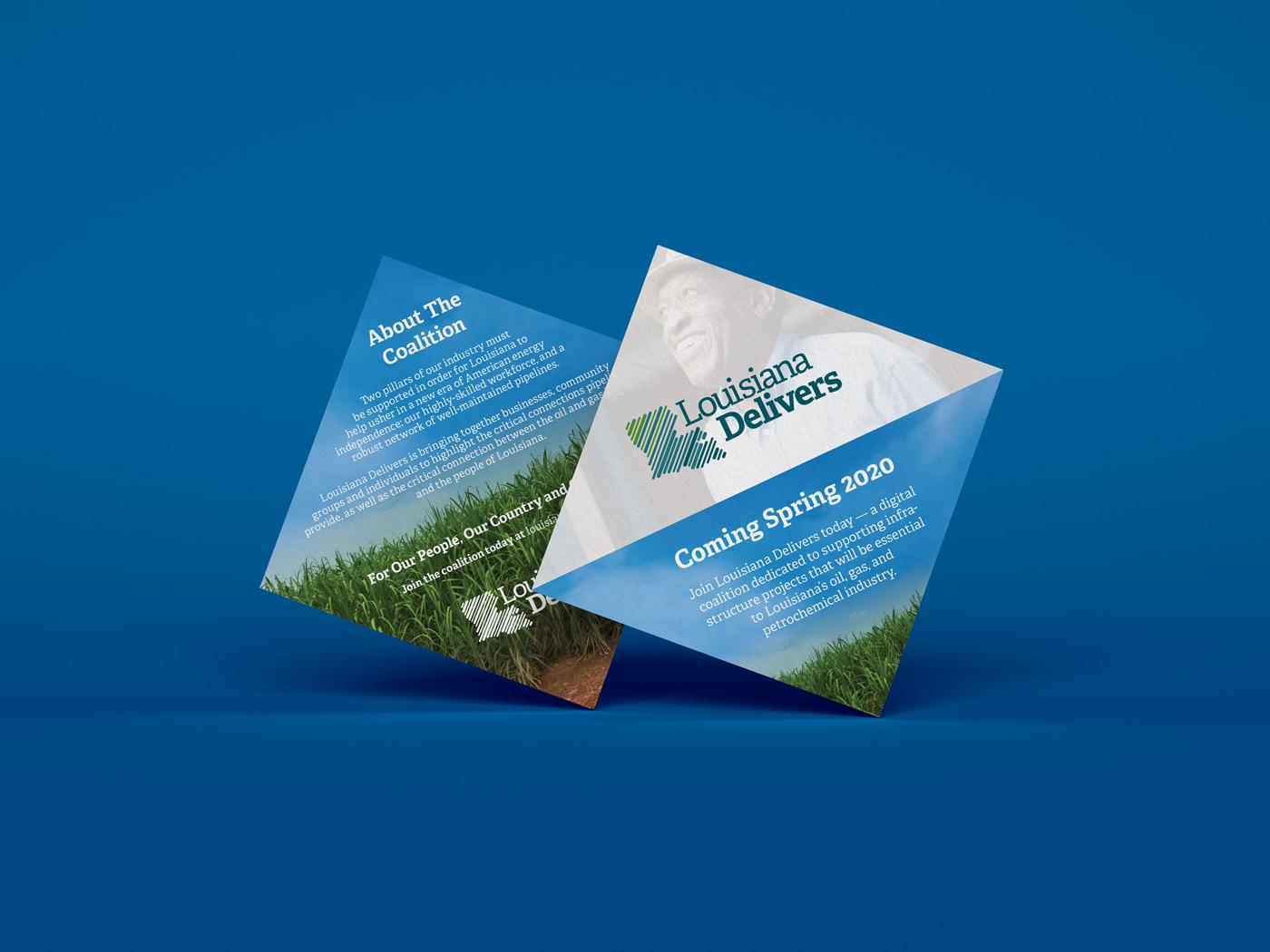 Louisiana Delivers Palm Card Design