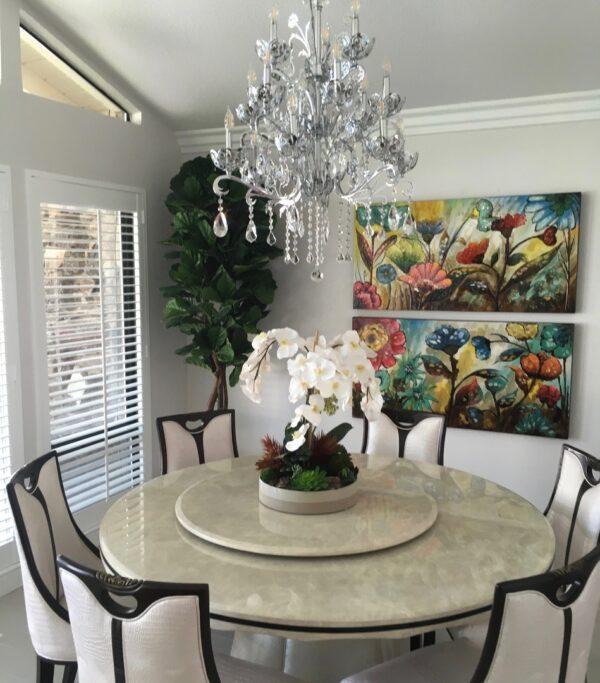 Faux White orchids