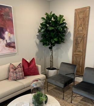 Custom artificial Rubber Tree for home decor
