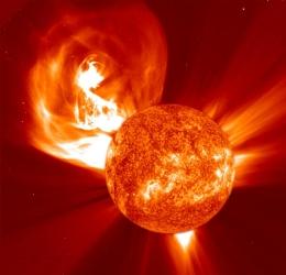 SOHO solar flare by ESA/NASA