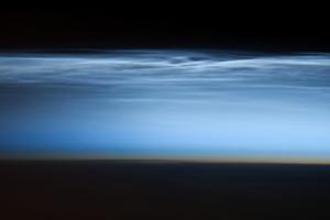 Polar Mesosperic Clouds over the South Pacific Ocean