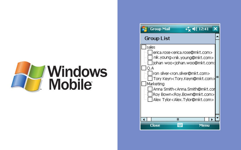 Mobile Group Mail – manage email groups on Windows Mobile