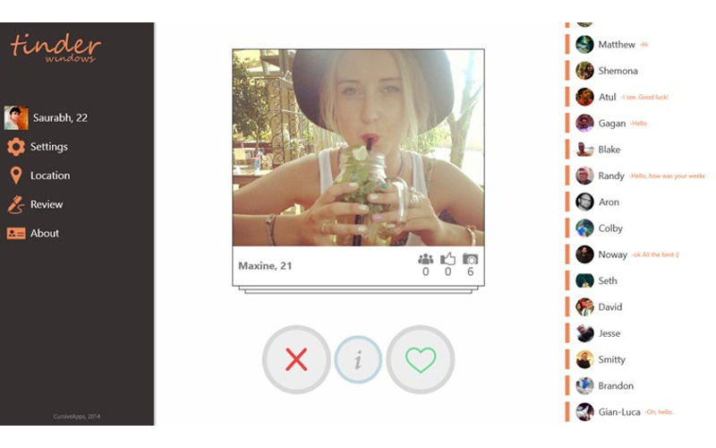 TinderWindows is a Great Way to Enjoy Tinder on Windows Phone, Tablet, and PC