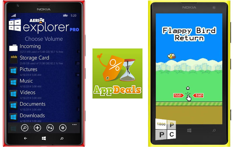 Aerize Explorer Pro, Flappy Bird Return Both Free on Windows Phone For a Limited Time