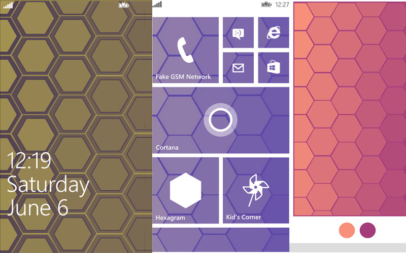 Want Some Cool Wallpapers for your Windows Phone? Take a look at Hexagram