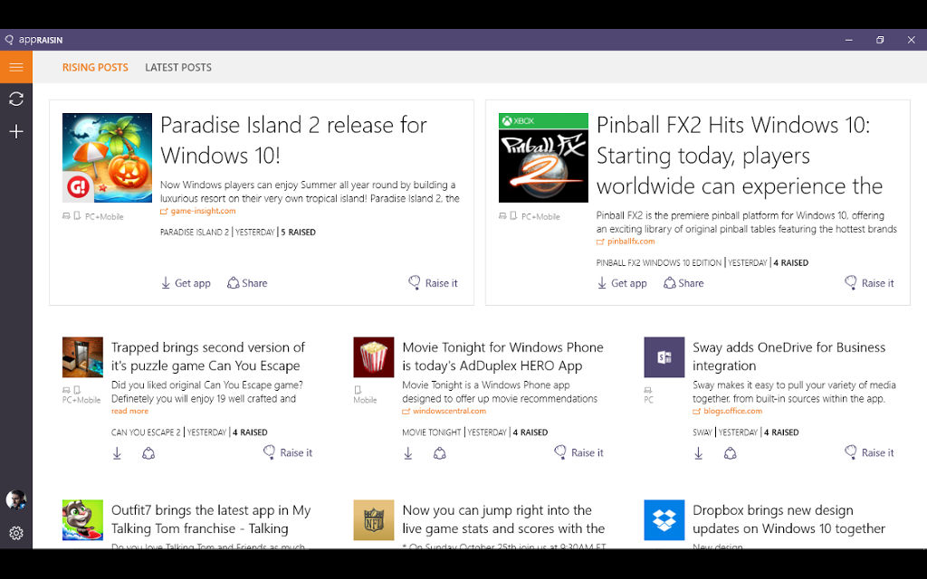 Discover the very best the Windows platform has to offer with AppRaisin from AdDuplex