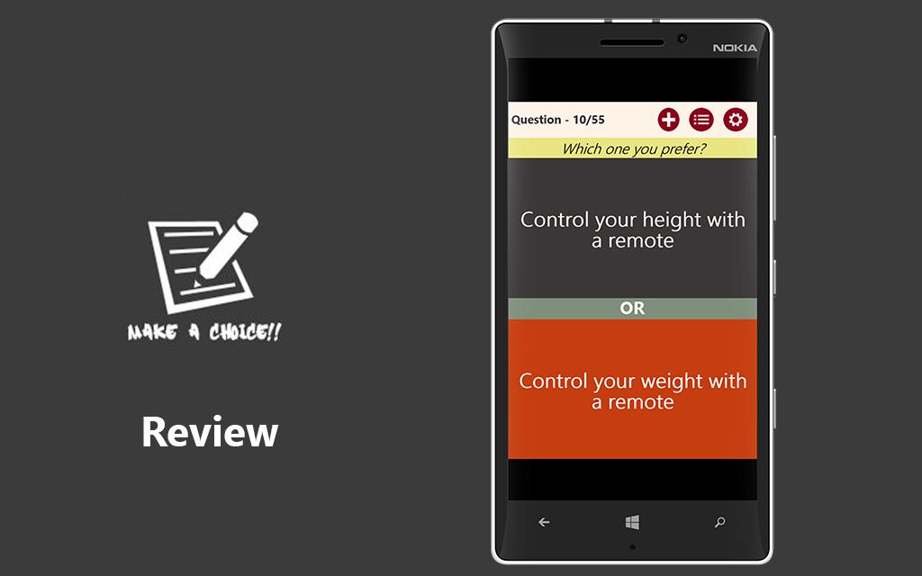 Make A Choice!! App Review