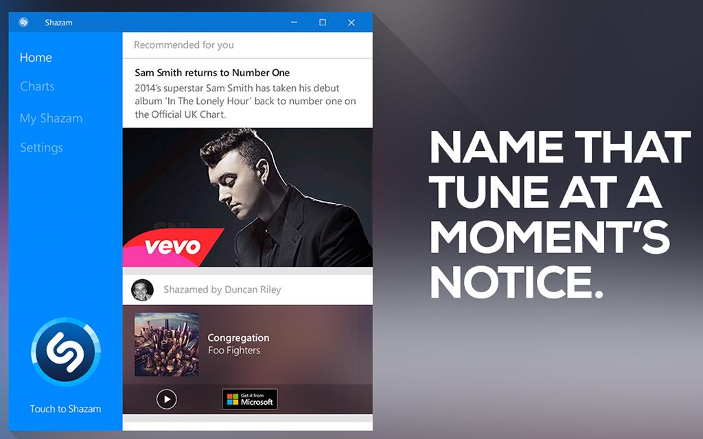 A new Shazam for Windows 10