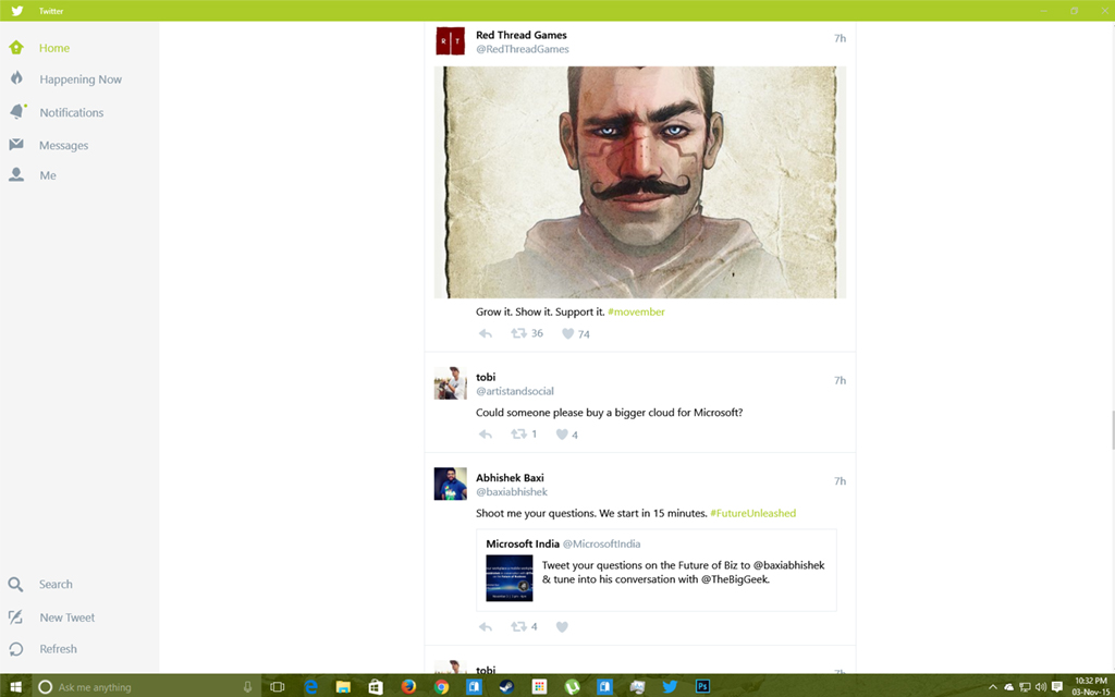 Twitter for Windows 10 Updated with likes support