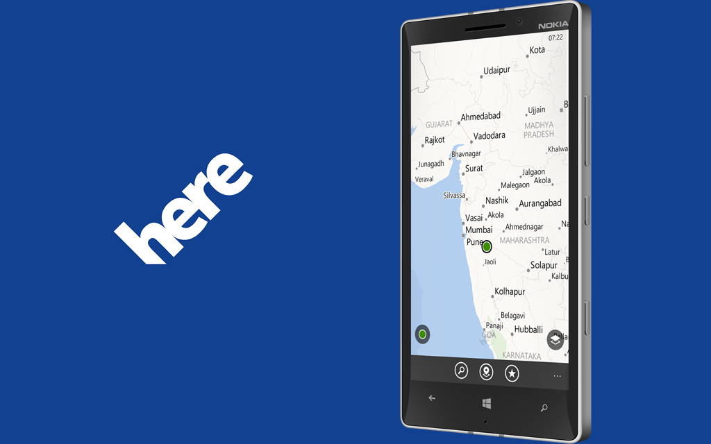 HERE maps on Windows 10 Mobile works again