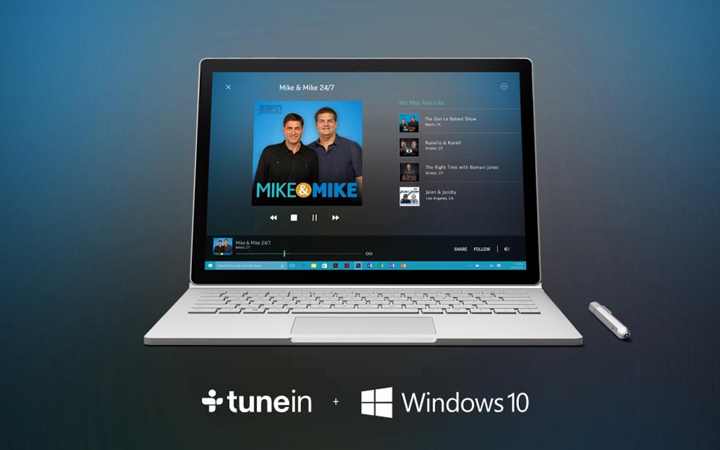 TuneIn Radio arrives on Windows 10