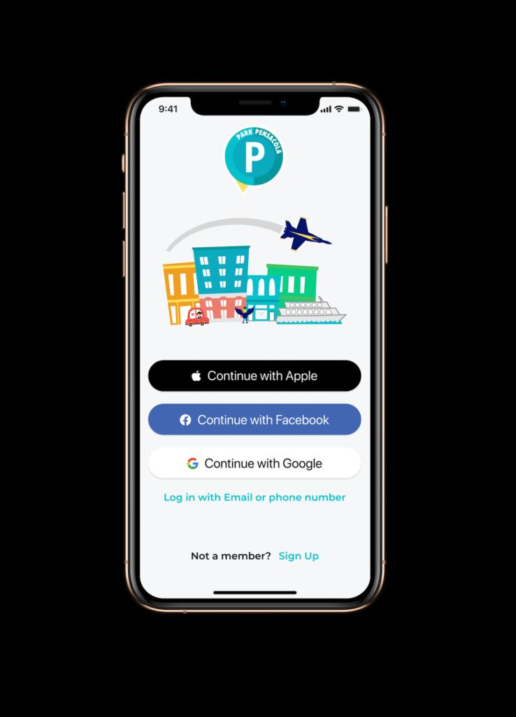 PARKPensacola App Intro Graphic