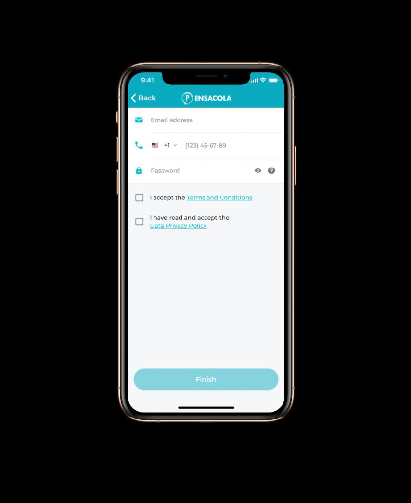 App account screen