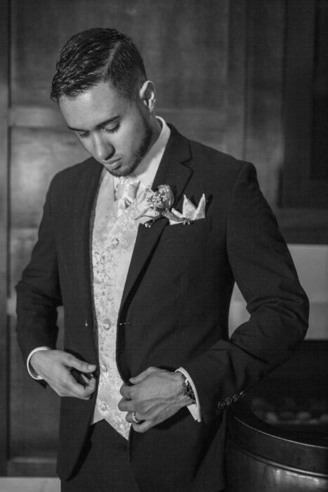 groom getting reading oklahoma wedding
