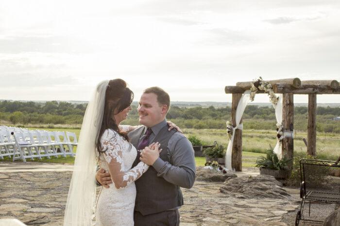 bride and groom first dance oklahoma wedding
