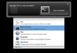 Gnome Do and Todo.txt playing together nicely.