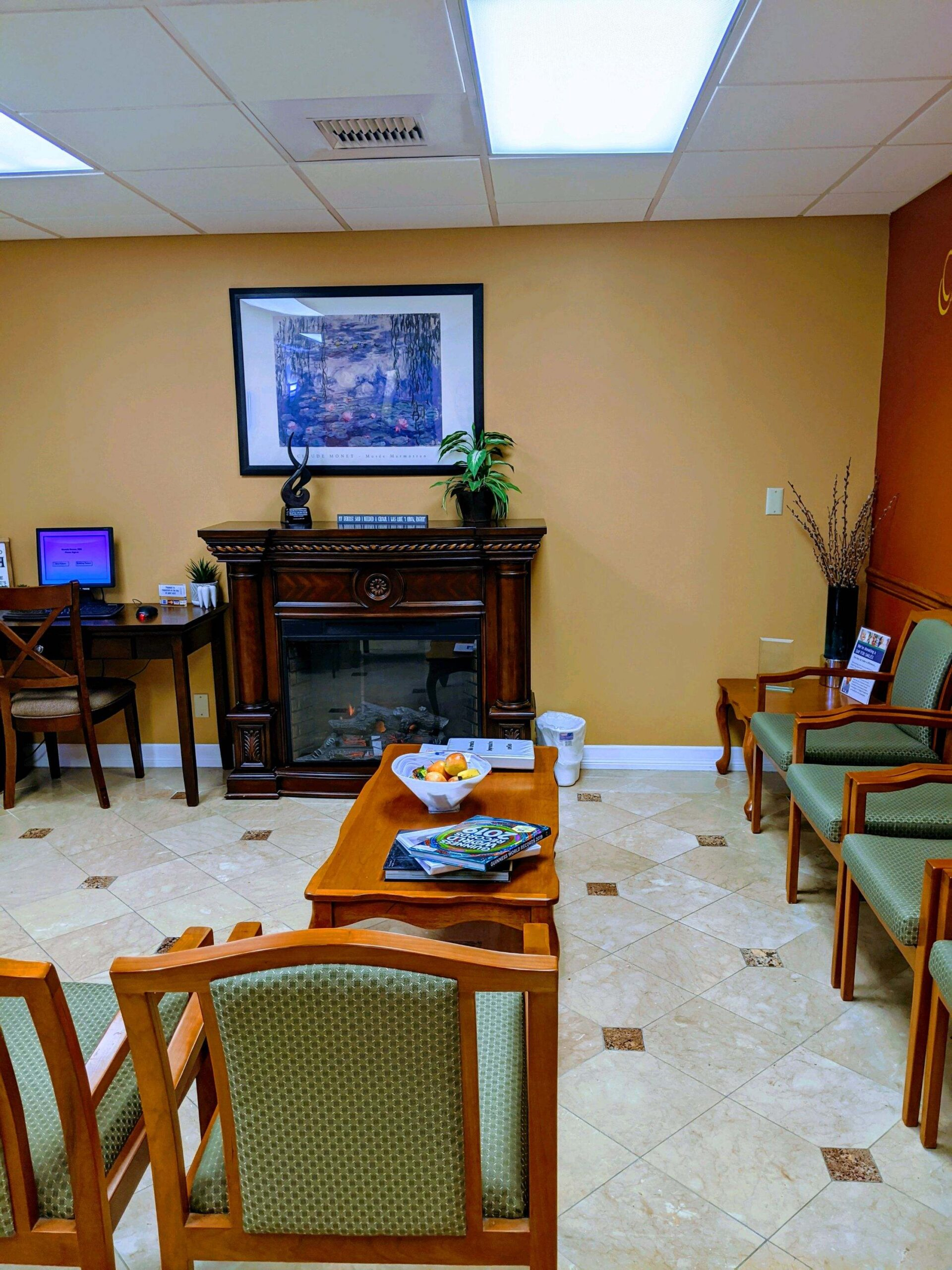 one stop dentistry waiting area