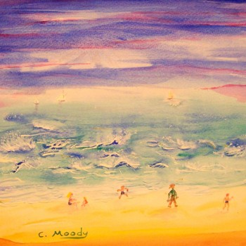 Purple Sky and Golden Sand