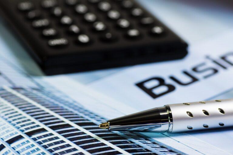 calculator, office, pen