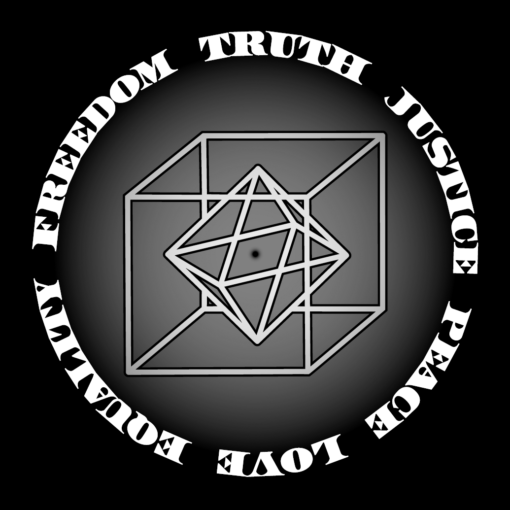 freedom truth justice peace love equality zen buddhism conscious conscience with science diamond cube sphere