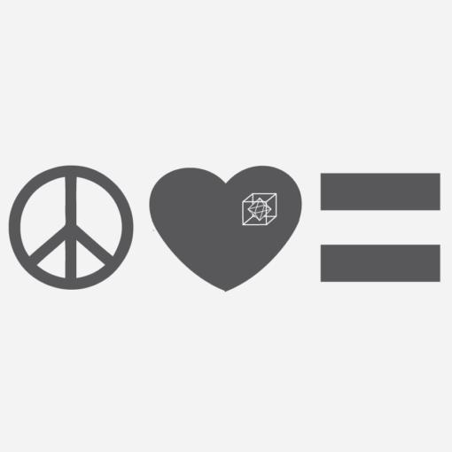 peace love equality freedom truth justice t shirt tank top grey print diamond cube promo sphere antifa