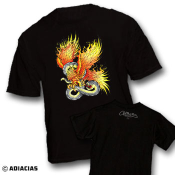 duality snake phoenix battle fight peace love equality t-shirts adiacias freedom truth justice