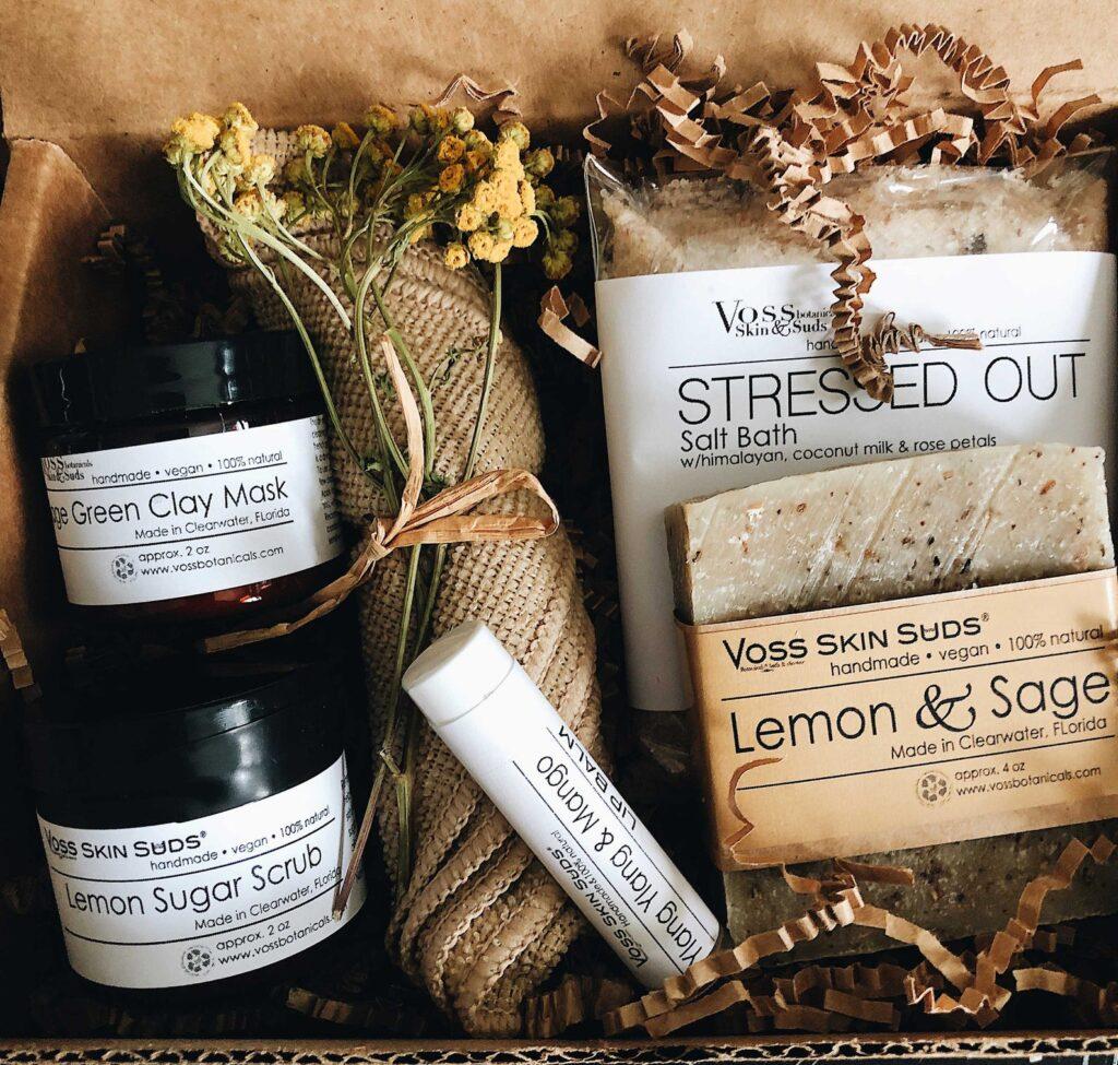 citrus spa vegan gift set