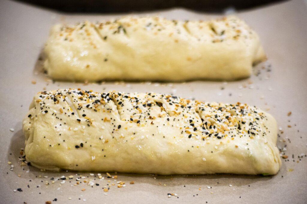 vegan stromboli baking
