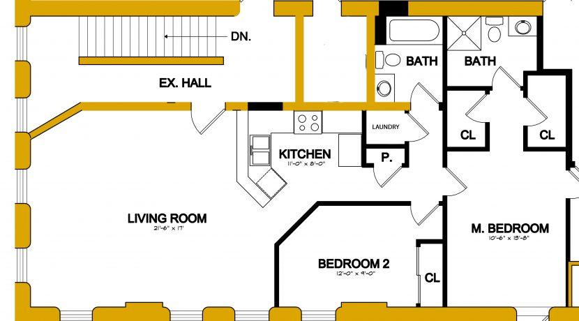 Apartment B floor plan